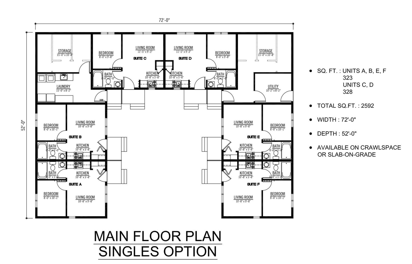 Plex Apartment Floor Plans Stunning 6 Plex Floor Plans