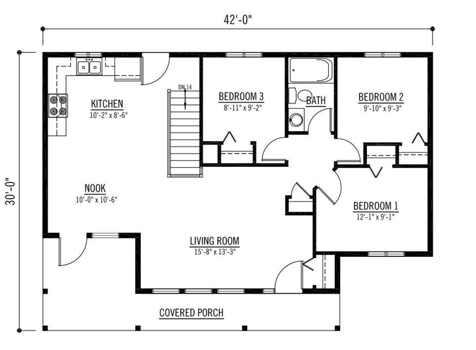 Most efficient floor plan 628 broadway open area floor for Efficient kitchen layout