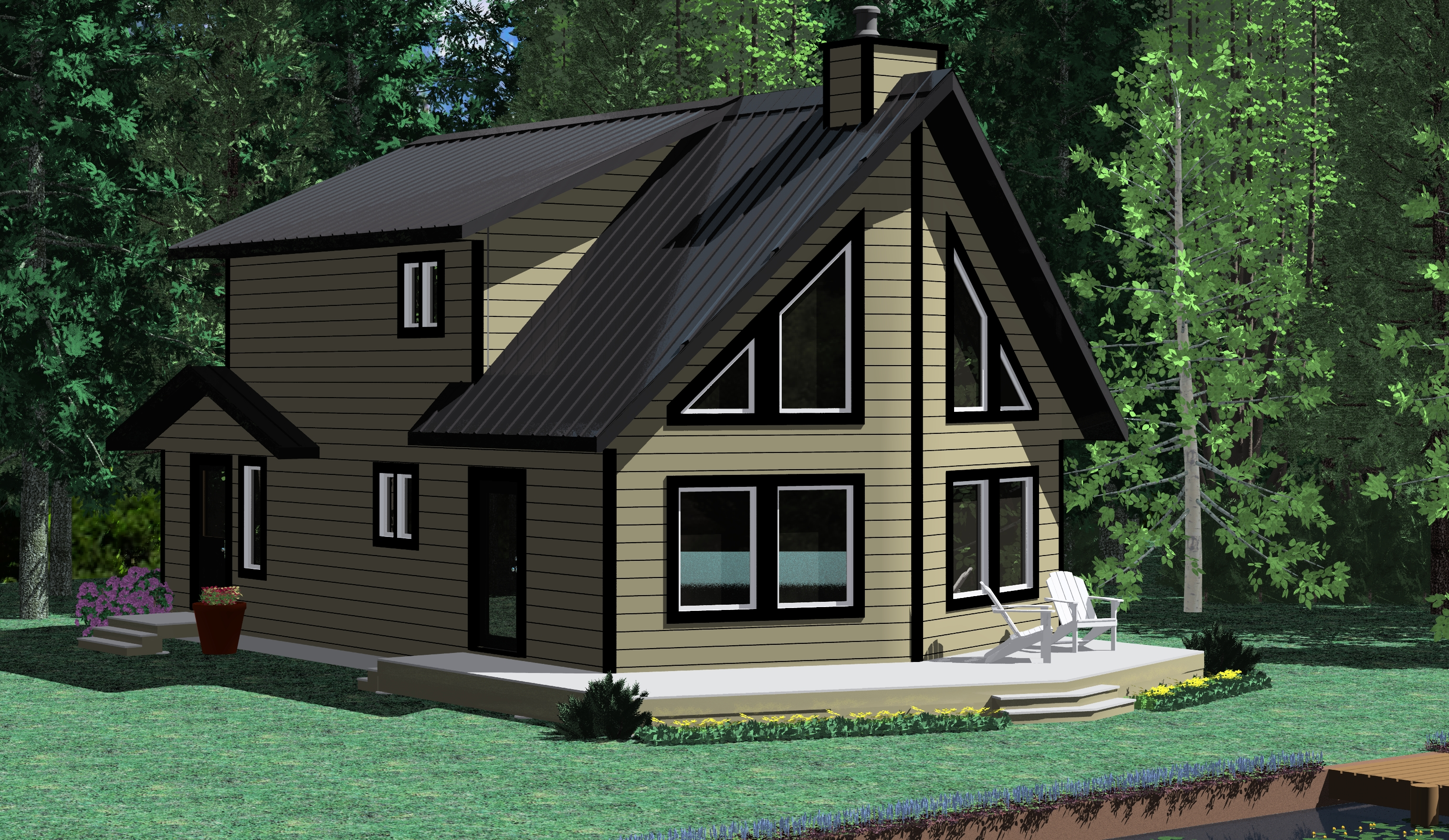 The skeena prefab cabin and cottage plans winton homes for Modular cabins and cottages