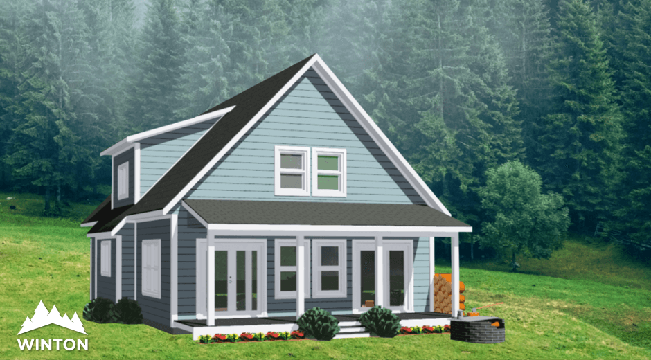 Sensational The Kelsey Prefab Cabin And Cottage Plans Winton Homes Home Remodeling Inspirations Genioncuboardxyz