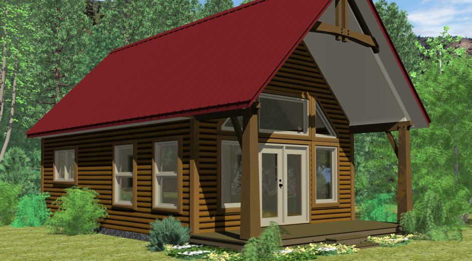 The rainier prefab cabin and cottage plans winton homes for Winton woods cabins
